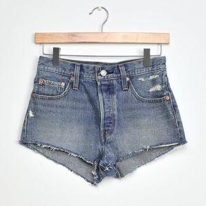 Levi's 501 Denim Micro Jean Shorts Teeny Weeny